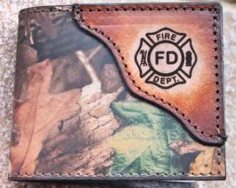 Fire Fighter Wallet, firefighter, fireman wallet, fire department gift, Personalized Free!  Gift Boxed!