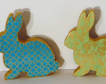 Handmade Wooden Easter Bunny Decoration, Easter Bunny, Easter Table Decoration, Easter Bunny Shelf Sitter, Bunny Statue, Bunny Figure
