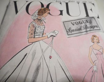 SALE Vintage 1950's Vogue 4769 Special Design Bridal or Evening Gown Sewing Pattern Size 12 Bust 32