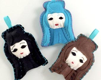 Felt Chola Ornament | Felt Decoration | Felt Ornament | Chola | Chingona | Flair | Chula | Felt Chola Doll | Cholitas | Custom Felt Flair