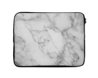 Laptop Sleeve, Grey Marble Print, laptop sleeve 13 inch Laptop sleeve 15 inch laptop sleeve MacBook, laptop cover, protective case, Marble