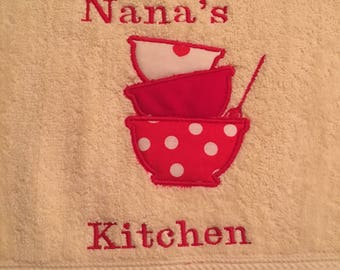 Handmade Personalized Towels