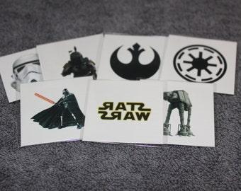 Star Wars Tattoos Darth Vader, Boba Fet, Storm Trooper