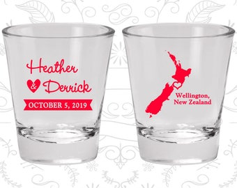 New Zealand Shot Glass, New Zealand Shot Glasses, New Zealand Glass, New Zealand Glasses, New Zealand Glassware (185)
