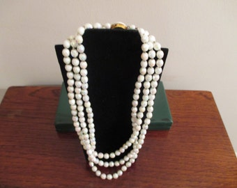 1970's White Necklace