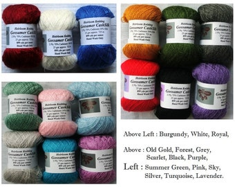 Gossamer CashSilk 2 Ply 899 yd/oz : 725m/25gm 15 Colours! ~Buy 4 get 5th free~