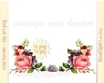 Digital Floral Border Clip Art Png