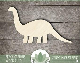 Wood Brachiosaurus Cutout, Laser Cut Wooden Dinosaur Shape, Dinosaur Nursery Decor, Unfinished Wood For DIY Projects, Dinosaur Party Decor