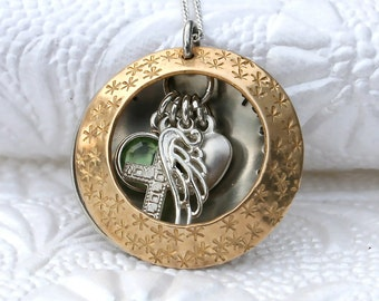 Remembrance Locket/Personalized/Sterling Silver/Jewelry