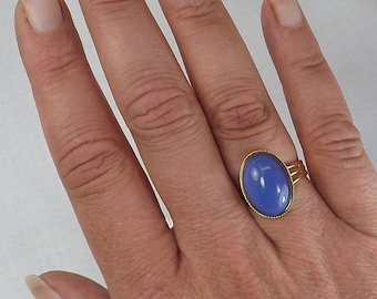 Mood Ring Adjustable Gold Plate Band Color Changing Jewelry Statement Ring