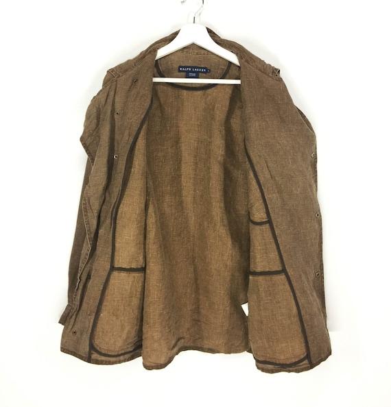 Rare rare Ralph designer design sackcloth jacket Lauren design jacket rrv1nBW