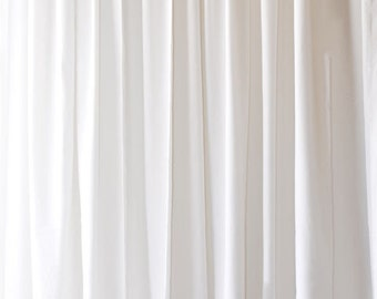 Solid White Flocked Velvet Curtain Panel 108 Inch High Long Panel Custom  Made Drapery Storefront Window