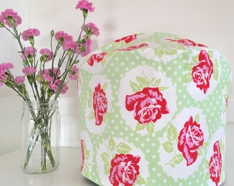 Instant Pot Cover - Reversible - Red Roses with Green