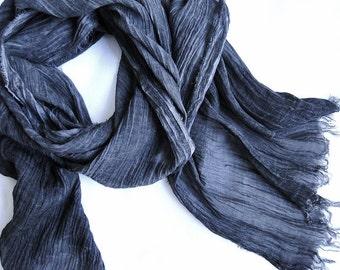 Large linen gauze shawl wrap
