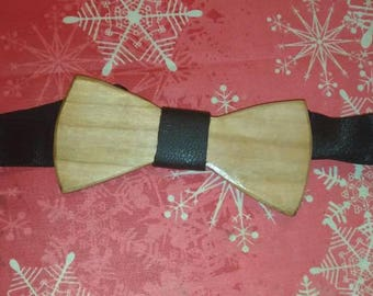 Cherry wood bow Tie