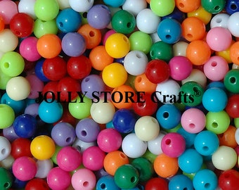 10mm Round Beads Multi Colors, 300pc