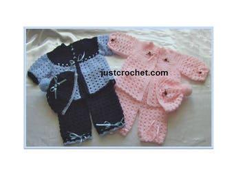 Coat, pants and bonnet Baby Crochet Pattern (DOWNLOAD) 30