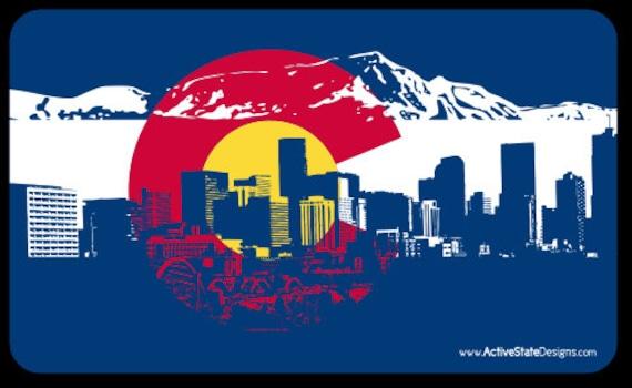 Colorado Mountain Flag Sticker