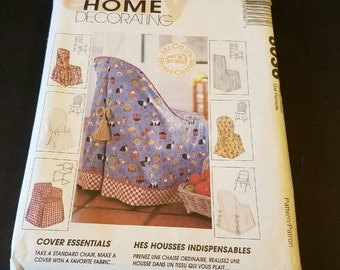 Vintage  1995 mccall's home decorating pattern for chair covers 8036 uncut VP1