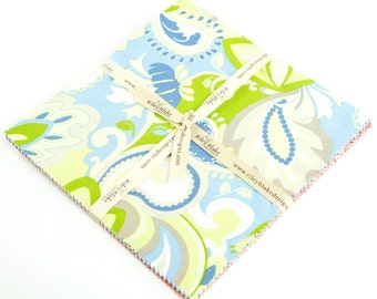 """Vintage Verona 10"""" Squares Stacker by Emily Taylor Designs for Riley Blake, 18 pieces"""