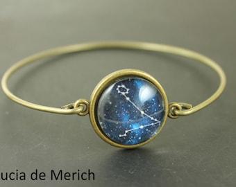 CHRISTMAS SALE 30% off -Constellation bracelet - Universe Jewelry -  Bracelet - Space Jewelry, Navy Blue Bracelet
