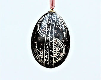 Decorative Pysanki Goose Egg Ornament