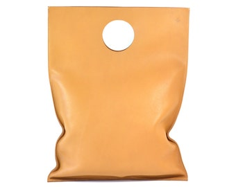 Lilly - Handmade Tan Leather Shopper Bag SS17