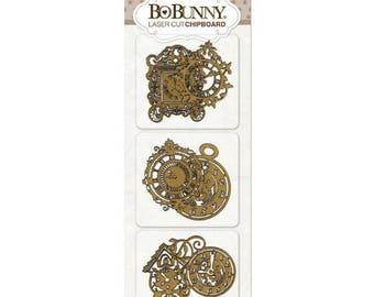 Bo Bunny Timepiece Laser Cut Chipboard - Timepiece  Chipboard - Decorative Chipboard - Timepiece  Cut Outs - Laser Cut Chipboard - 4-092