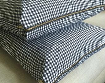 Gingham Pillow Cover, Black & White Gingham, Pillow Cover, Gingham Check Pillow, Plaid Pillow, Check Pillow Cover