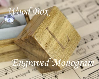 Engraved Monogram Addon For Wooden Ring Boxes