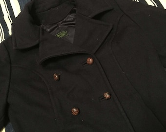 Rare 1940s-50s Abercrombie and Fitch Double Breasted Wool Jacket Womens Size M/L
