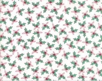 Sugar Plum Christmas White 2911 12 - Moda Fabrics 100% Cotton Quilting Fabric Bunny Hill Designs