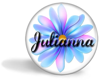 Personalized Pastel Flower Pocket mirror, Bridesmaid gift, Wedding favor, Shower gift, Compact Mirror, Small gift, Thank you, Coworker