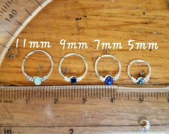 BEST SELLER Body Jewelry Hoops, Piercings, 22g 20g 18g, stainless steel, sterling silver, gold filled, nose ring, tragus, rook, septum