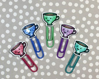 Day Planner Paper Clips • Kawaii Tea Cups • LIMITED RUN