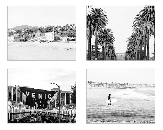Black and white surf photography los angeles photography venice beach black and white print surf decor beach house art surf poster