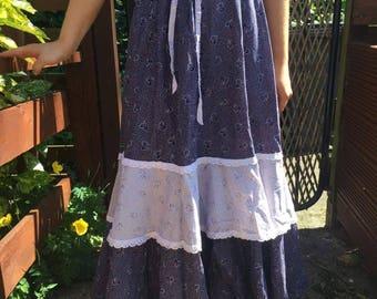 Vintage tiered maxi skirt