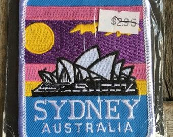 LAST ONE! Sydney, Australia Vintage Travel Souvenir Patch - Still in Original Package