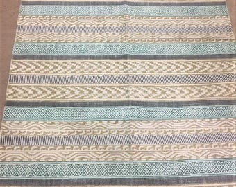SALE: Yellow Patterned Dhurrie Rug