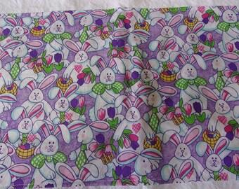 Bunny towels, Easter kitchen towel set, large white flour sack towel set, kitchen accessory, tea towels, Easter decor, Easter dish towels