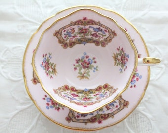 Vintage Tea Cup and Saucer By Paragon, Antique Series Sheraton, By Appointment to Her Majesty the Queen, Replacement China - ca. 1950s