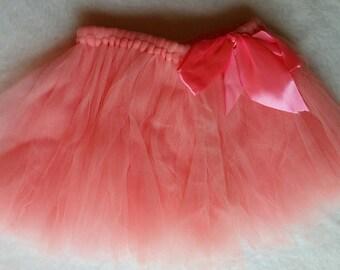 Peach Baby Tulle Skirt, Peach Tulle Reborn Skirt, Newbor Skirt, Baby Gift, Baby Shower Gift, Baby Photo Prop