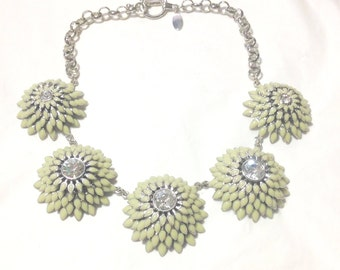 Cool Ann Taylor Flower Statement Necklace