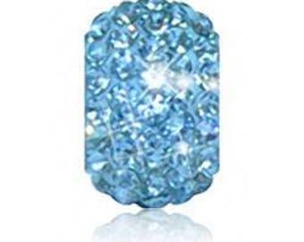 Aqua Blue Crystal Charm - March (On Sale) fits Pandora ( Sparkle Life )