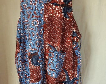 "Dress ""Doguissimi"" large size African wax fabric patchwork, dress forms"