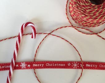 Duo of Red Christmas - Merry Christmas Ribbon