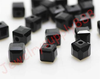 Black Color 41 Square Cube Crystal Beads,Loose Jewelry Beads ,Square crystal beads Size 2mm 3mm 4mm 6mm 8mm 50 Colors U Pick
