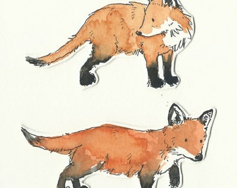 Original illustration - Baby Foxes
