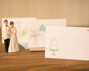 wedding cake congratulations blue card