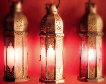 Lantern photography, moroccan lanterns,red,fine art photography